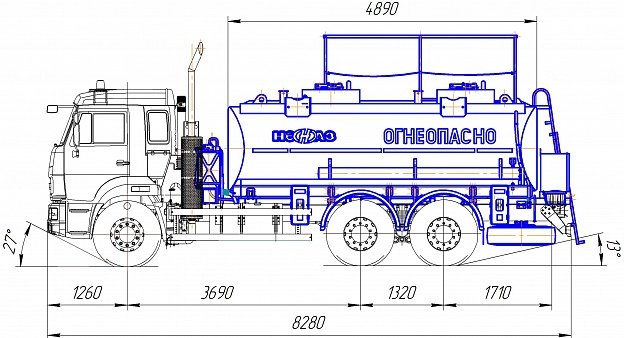 Автотопливозаправщик НЕФАЗ-6606