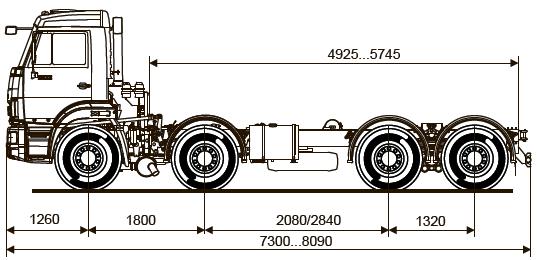 Шасси KАМАZ - 6540-А4