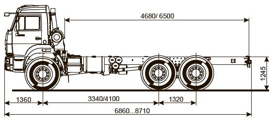 Шасси KAMAZ - 5350-42
