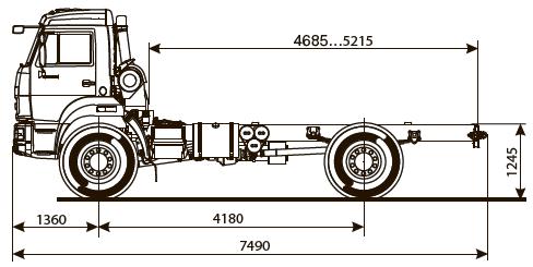 Шасси KАМАZ - 43502-45