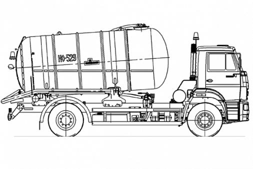 Машина ассенизационная КО-529-14