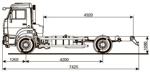 Шасси KАМАZ - 43253-С4
