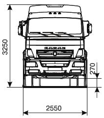 Шасси KАМАZ-6360-73