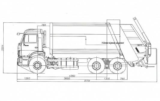 Мусоровоз с задней загрузкой МКЗ 7017 К3 (784601) HM-18