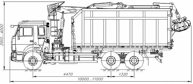 Ломовоз 658602-12002 с ОМТ-97М