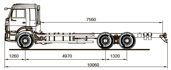 Шасси KАМАZ - 65117-А4