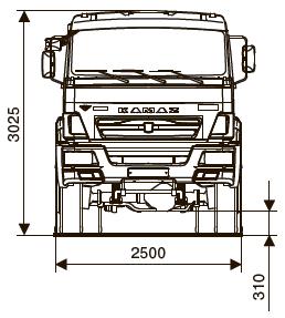 Шасси KАМАZ - 65111-42